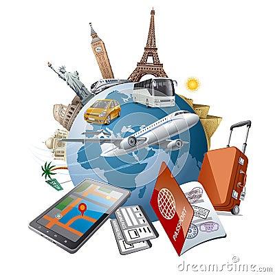 Free World Tour Royalty Free Stock Image - 49409436