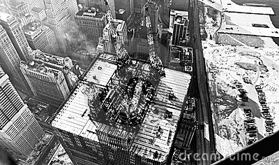 World Trade Center construction 1971