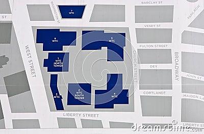 World Trade Center map