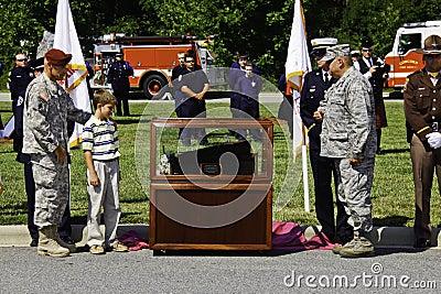 World Trade Center Memorial Relic Unveiling Editorial Image
