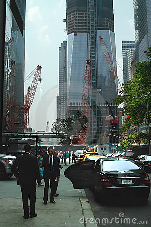 World Trade Center Reconstruction New York USA Editorial Photo