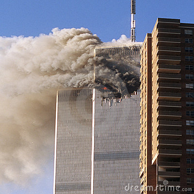 World Trade Center terrorist attack Editorial Stock Photo
