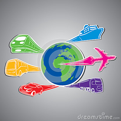 World transport Concept stock