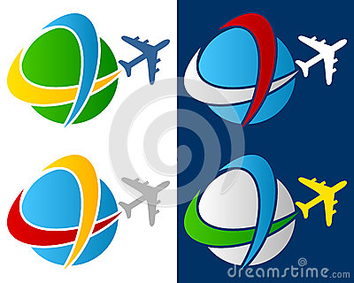 World Travel Airplane Logo