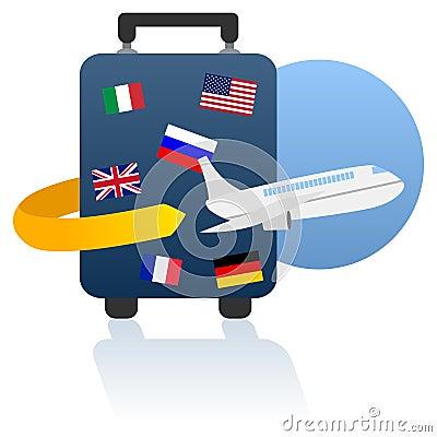 Free World Travel And Holiday Logo Stock Photography - 21521252