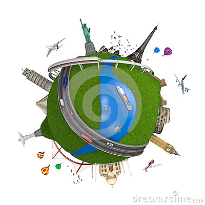 Free World Travel Globe Concept Isolated Stock Photography - 25357212