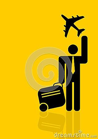 World travelling businessman