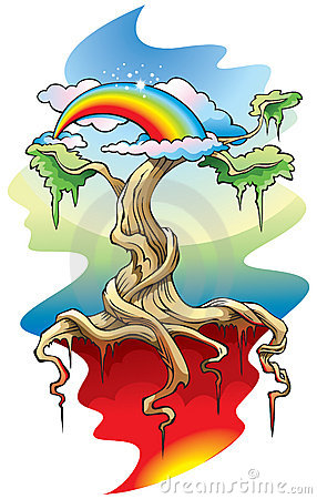 The World Tree Vector Illustration