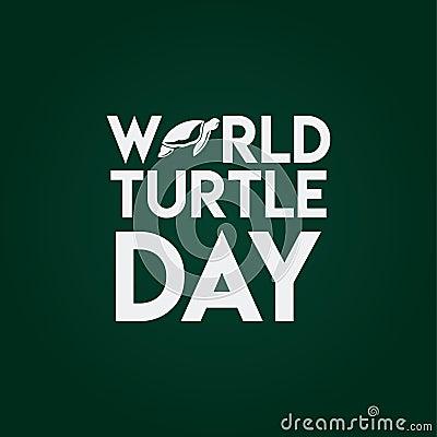 World Turtle Day Vector Template Design Illustration Vector Illustration
