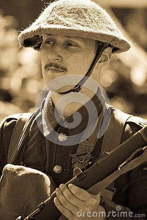 World War 1 soldier Editorial Photo