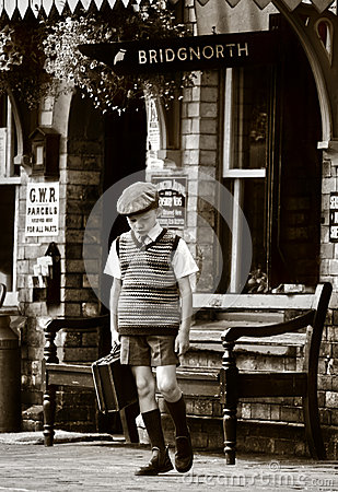 World War 2 evacuee child WWII Editorial Image
