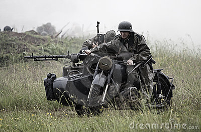 World War 2 scene Editorial Photo