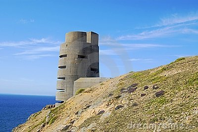 World War 2 watchtower on Jersey
