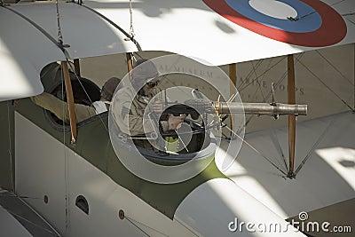 World War I Machine gunner Editorial Photography