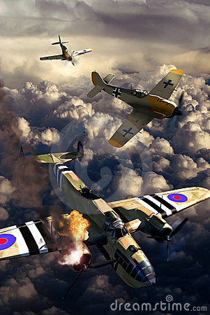World War II aerial fight