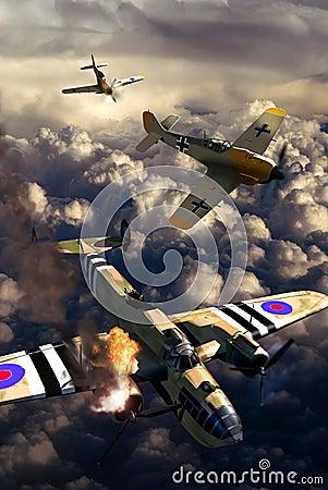 World War II aerial fight