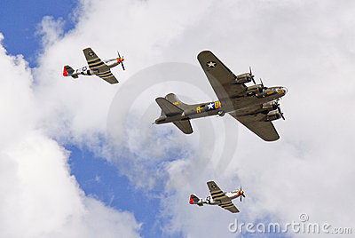 World War II Airplanes - Fighters and Bomber Editorial Image