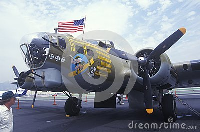 World War II Bomber Plane Editorial Image