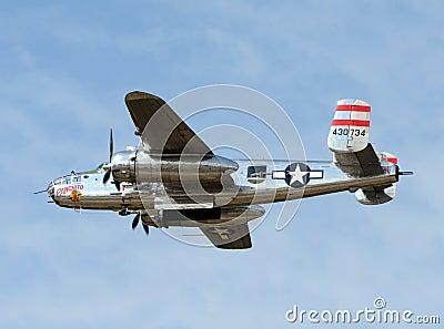 World War II era B-25 bomber Editorial Stock Image