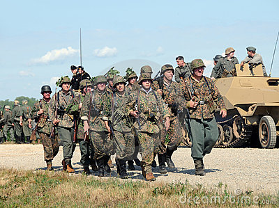 World War II era battle Editorial Photo