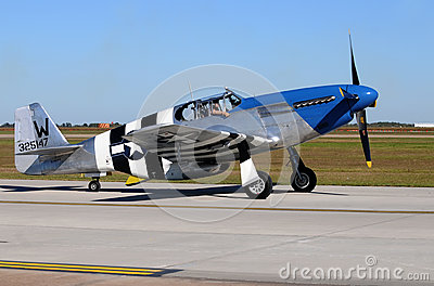 World War II era P-51C fighter plane Editorial Photography