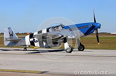 World War II era P-51C fighter plane Editorial Photography