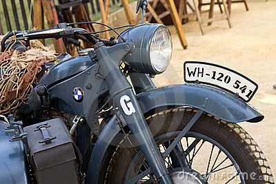 World War II german motorcycle Editorial Stock Photo