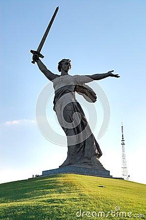World War II Memorial obelisk on Mamayev Kurgan