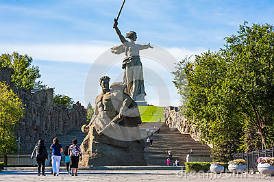 World War II Memorial in Volgograd Russia Editorial Photo
