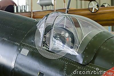World War II plane cockpit