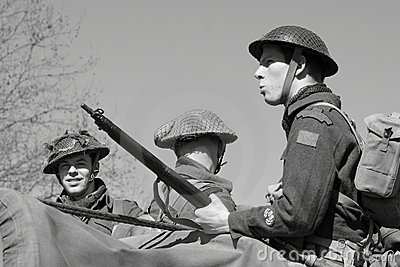 World War II soldiers Editorial Image