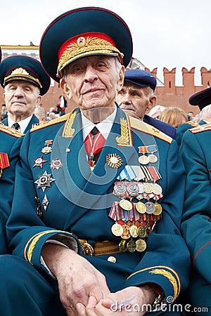 World War II veteran, retired general Linnik V. Editorial Stock Image