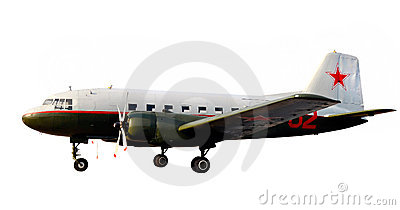 World war lend-lease airplane dc-3 li-2