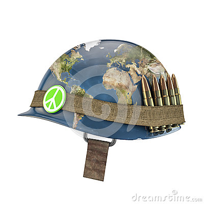 World war and peace helmet