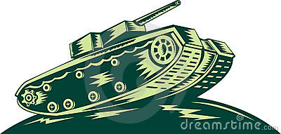 World war two Battle tank