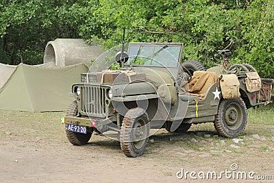 World war 2 Willy jeep Usa Editorial Photo