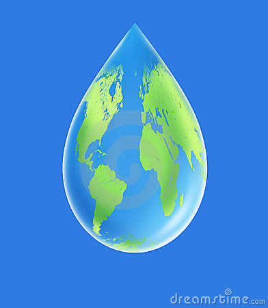 World water droplet clean  environment
