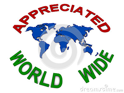 World wide appreciation