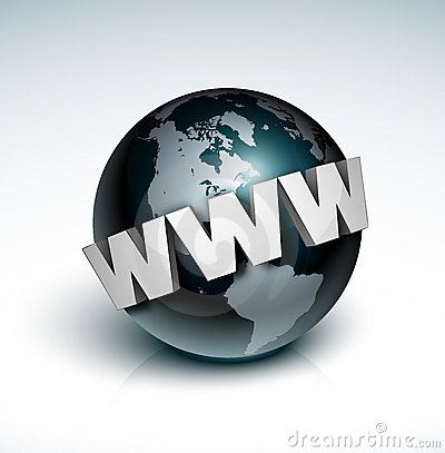 World Wide Web around globe