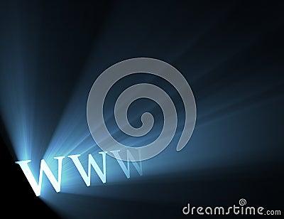 World wide web www blue light flare