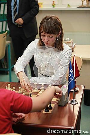 World Women s Chess Champion Elisabeth Paehtz Editorial Stock Image
