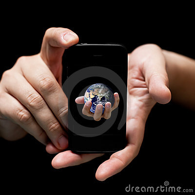 The world in your hands, smartphone
