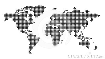 Worldmap white