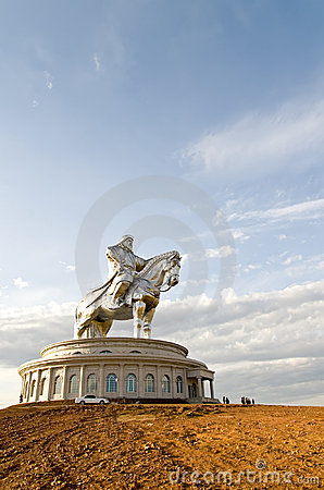 Worlds biggest statue of Chinghiskhan