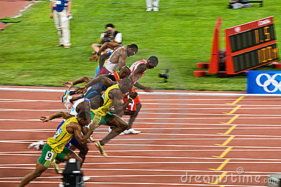 Worlds Fastest Runners Editorial Image