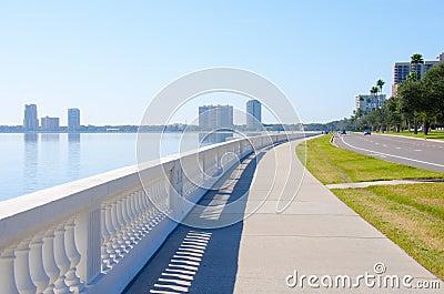 Worlds longest continuous sidewalk Bayshore Blvd.