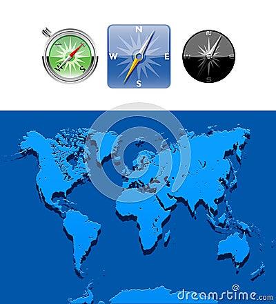 Worldwide Map-Illustration-map