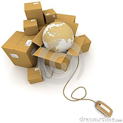 Free Worldwide Online Logistics Royalty Free Stock Photos - 12867508