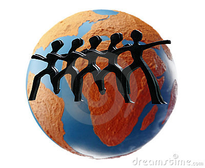 Worldwide teamwork. Stock Photo