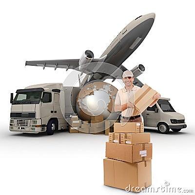 Free Worldwide Transportation Company Royalty Free Stock Image - 20953156